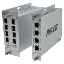 pelco FUMSf series 4 port and 8 port switch hubs