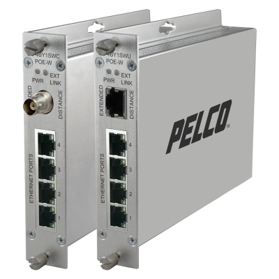 pelco ec-4by1sw ethernet extender boxes