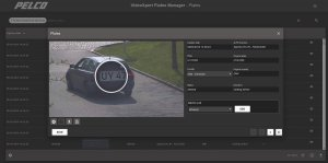 pelco video plates manager screen shot
