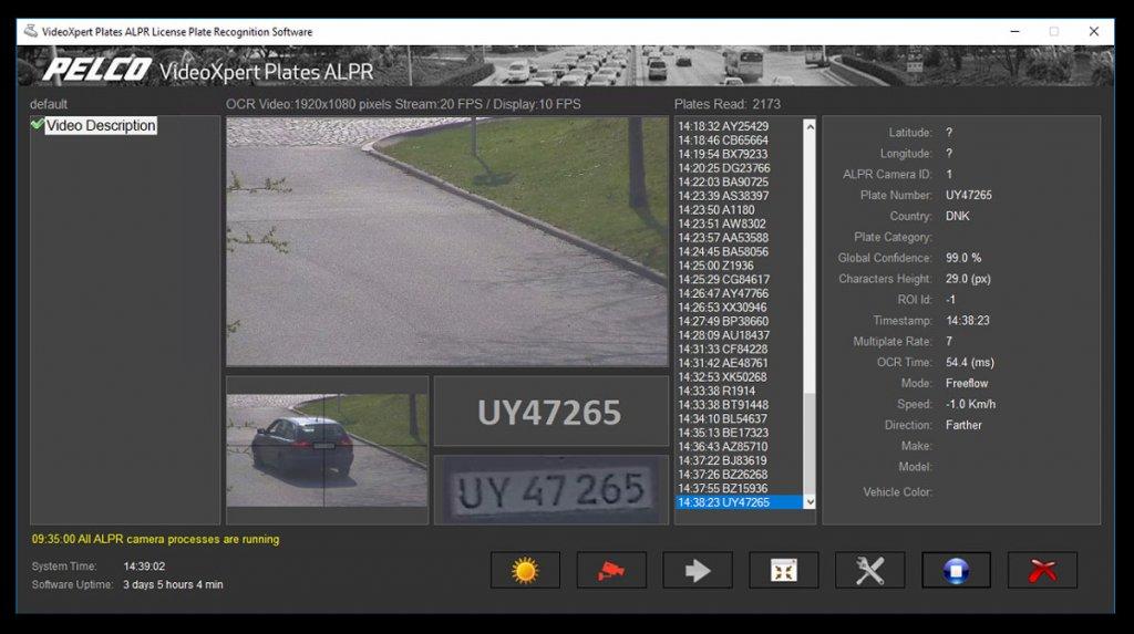 Videoxpert Plates Alpr License Plate Recognition Pelco