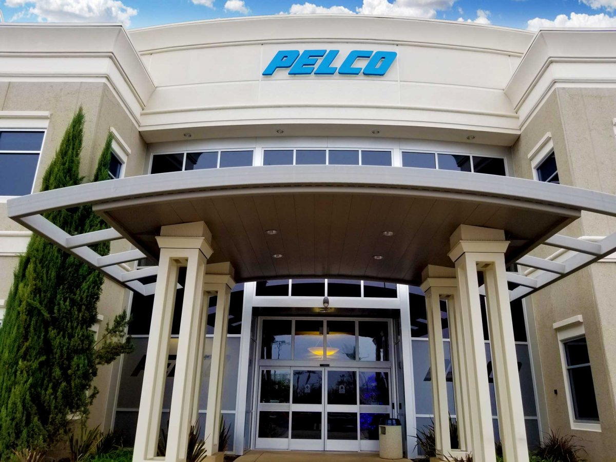front view picture of pelco building in fresno california